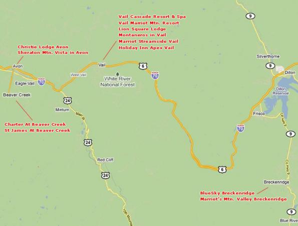 map - Charter Sports Charter Service Map on