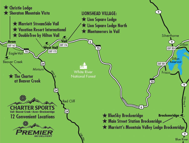 Maps & Locations of Charter Sports in Colorado